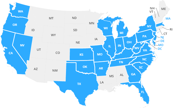 States we serve DSL Internet Service